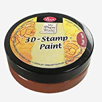 Viva Decor - Colore per tampone 3D, tinta #905, marrone noce metallizzato
