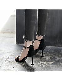 2b5b0fb2f GAOLIM Los Zapatos De Tacón Alto Las Mujeres Sandalias De Punta Plana Fino  La Primavera Y