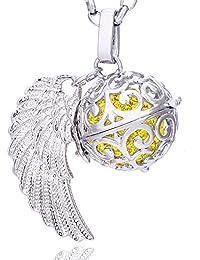 Tear Drop Schleife Amethyst Halskette Kette Zirkon 45 cm 18K Weißgold PL NEU