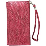 J Cover A5 I Bali Leather Wallet Universal Pouch Cover Case For Asus ZenFone 4 Max Pro Red
