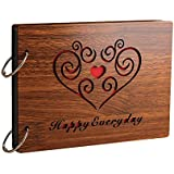 Sehaz Artworks HappyEveryday Scrapbook Photo Albums for 4x6 Photos for Baby Birthdays, Couples Husband Wife (26 cm X 16 cm X 4 cm, Brown)