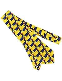 ddoq Cartoon Herren Krawatte Fancy Gummi Ente Muster Hals Krawatte 143x 8cm