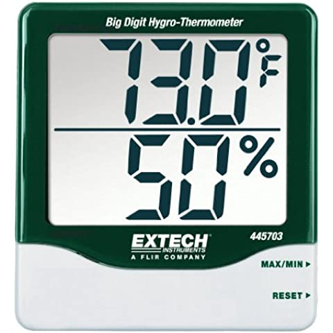 Extech 445703 Big Digit Hygro-Thermometer With