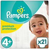 Pampers Premium Protection Windeln, Gr. 4+ (9-18 kg), 1er Pack (1 x 21 Stück)