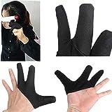 Negro Tres Dedos Diseño Térmico De Peluquería Guante Resistente Al Dedo
