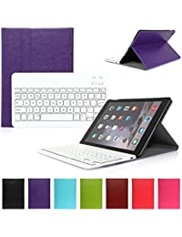 iPad Air 1 Funda con Teclado Bluetooth ,CoastaCloud iPad Air 1 Funda Cubierta Protectora con Teclado Inalambrico QWERTY Español para Apple iPad Air 1 (A1474, A1475, A1476)Morado
