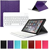 iPad Air 1 Funda con Teclado Bluetooth ,CoastaCloud iPad Air 1 Funda Cubierta Protectora con Teclado Inalambrico QWERTY Español para Apple iPad Air 1 (A1474, A1475, A1476)Morado