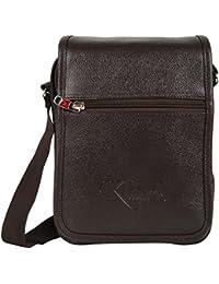 KLARK Unisex Sling Bag (Brown, FMS-988 S BROWN)