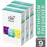 Godrej aer Pocket, Bathroom Air Fragrance - Assorted Pack of 9 (9x10g)