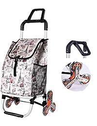 Telaio leggero in alluminio Carrello della spesa pieghevole carrello di utilità con cuscinetti ruota Carrello per i bagagli, I