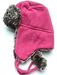 Shropshire Supplies señoras/niñas forrado Fleece Trapper gorro con pelo sintético y pompones