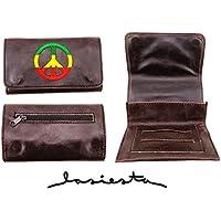 La Siesta - Petaca para tabaco de liar (compartimento doble), color marrón