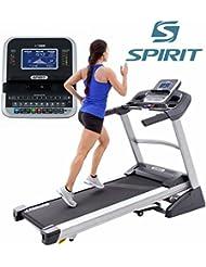 Spirit Treadmill XT 385 - Cinta de andar con 3,5 CV, 1-18 km/h, inclinación 0-15 Level, 7,5`` LCD, plegable