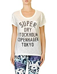 Superdry T-Shirt Women NORDIC GRAPHIC TEE Winter Ecru