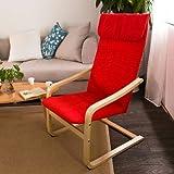 SoBuy® Sillón, Relax Lounge Chair, Mecedora,FST17, ES (rojo)