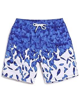 OME&QIUMEI La Playa De Los Enamorados Pantalones Hombre Mujer Seca Y Suelta Shorts Playa De Vacaciones Y Ocio...