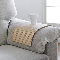 bandeja de madera que se adapta al brazo del sofá, butaca o sillón y a la mayoría de superficies inestables, acabado arce, ideal para regalo