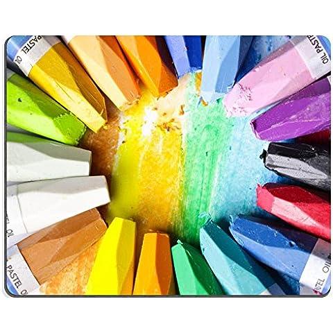 MSD-Tappetino per mouse in gomma naturale, gioco foto ID: 29268567 pastello, pastelli a olio, colore: bianco