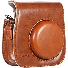 [ Accesorios para Fujifilm Instax ] Andoer® Funda / Caso / Cubierta / Bolso para Fuji Fujifilm Instax de de la PU con Dibujos Animados para Cámara Fujifilm Instax Mini8 Mini8s Bolsa de hombro Individual----marrón