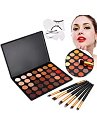 VONISA Eyeshadow Palette 35 Waterproof Makeup Nature Glow Matte Eye Shadows Kits Professional Make Up Shimmer Eye Shadow Pallets with Eyes Makeup