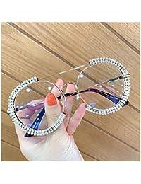 HGGH Gafas de Sol 2020 Ronda Gafas de Sol Mujeres Claro Lente de Las Lentes Sombras for Las Mujeres (Lenses Color : White)