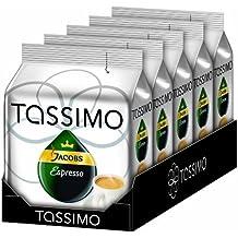 Tassimo Cápsulas de Café Jacobs Espresso, Café Molido de Tueste Natural, Pack de 5, 5 x 16 T-Disc