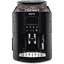 Krups EA8150 - Cafetera automática, 15 bares de presión, pantalla LCD, 3 niveles de intensidad de café, cantidad ajustable de 20 ml a 220 ml, programa automático de limpieza, molinillo integrado