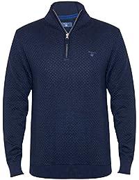 Gant Dot Texture Halfzip Sweater, Suéter para Hombre