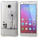 case cover para Huawei Honor 5X,Crisant diente de león niño Diseño Protección suave Transparente TPU Gel silicona Teléfono Celular Back funda Carcasa para Huawei Honor 5X