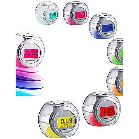 LBLI Cambiare colore del LED luce nave allarme sonoro temperatura del calendario orologio snooze JIAJU-YONGPING #2713