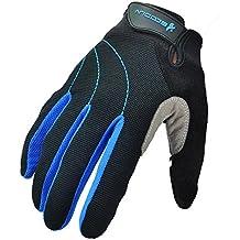 bazar chino Guantes de dedo completo con pantalla táctil - la más brillante, más segura, más cómoda alta calidad Gel guantes acolchados de hombres o de mujeres ciclismo - correr, senderismo, Camping, coche, bicicleta de montaña y enfriar , blue , xl