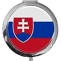 """metALUm - Extragroße Pillendose in runder Form""""Flagge Slowakien"""" preisvergleich bei billige-tabletten.eu"""