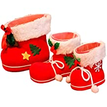 THEE 3pcs Bolsos de Regalo de Caramelo de Navidad Bolsa de Regalo de Bota de Papá