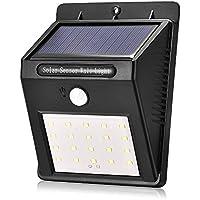 yuyitec impermeable 20LED al aire libre LED luz Solar PIR sensor de movimiento lámpara de pared ahorro de energía calle camino casa jardín seguridad lámpara