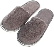 1 pair Of Indoor Home Slippers Warm Wooden Floor Thick Cotton Slippers Autumn And Winter Couples Slippers Maka