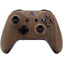 eXtremeRate Funda Carcasa Frontal Cubierta Shell Superior Antideslizante para Mando inalambrico Xbox One S & Xbox One X (Madera Impreso)