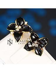DD Antiallergic18K Real Gold Platedearrings For Womennouveaux Bijoux De Mode Plaqué Or 1.7Cmx1.6Cm