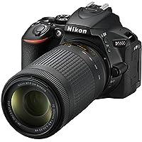 "Nikon D5600- Cámara réflex de 24.2 MP (pantalla táctil de 3"", Full HD) negro - kit con objetivo AF-P DX 18 - 55 mm VR y AF-P 70 - 300 mm DX VR, versión europea"