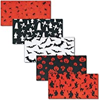 folia 85622 Transparentpapier Halloween 115g//m/² 5 Motive 22x51cm Mehrfarbig 25 Bogen