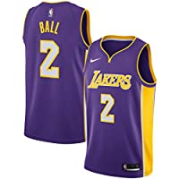 Nike NBA Los Angeles Lakers Lonzo Ball 2 2017 2018 Icon Edition Jersey Official Kobe Bryant, Camiseta de Niño