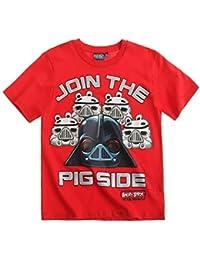 Angry Birds Star Wars Chicos Camiseta manga corta - Rojo