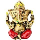 ACTC Ganesha Sitting Statue | Ganesha Statue | Ganesha Idol | Ganesha Statue For Good Luck | Ganesha Idol For Happiness | Ganesha Figure For Good Fortune | Ganesha Statue For Home Decor & Gift.
