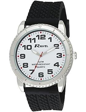 Ravel Herren-Armbanduhr Analog Quarz Schwarz R5-20.3G