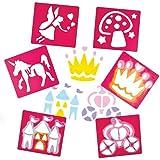 Pochoirs sur le Thème des Fées que les Enfants pourront utiliser pour Créer, Décorer et Personnaliser des Illustrations et Collages (Lot de 6)