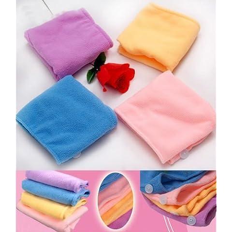 Dansuet Microfibra bagnarsi bagno asciutto rapido secchezza della Magic Hair turbante Wrap Cappello Asciugamano Berretto, Turbante Wrap cappello della protezione del tovagliolo per le donne