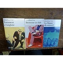 lot de 3 livres de jonathan Coe : testament à l'anglaise - bienvenue au club - la maison du sommeil