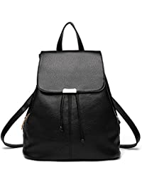 58d3dfe099 Premium 2018 New Women Leather Backpacks Students School bags for Girls  Teenagers Travel Rucksack Black Color