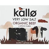 Kallo Og Organic Low Salt Beef Stock Cube 48 g (Pack of 15)