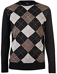 Pierre Cardin Mens New Season Crew and V-Neck Argyle Knitted Jumper f837e136f671c