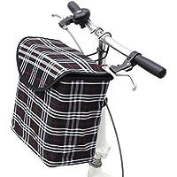 shayson pieghevole staccabile portatile Canva anteriore per manubrio bicicletta con telaio in lega di alluminio gancio rimovibile, perfetto per ragazze e Pet Carrier in alluminio telaio in lega, Black